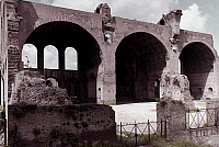 0052949 © Granger - Historical Picture ArchiveROME: BASILICA REMAINS.   Remains of basilica in the Roman Forum begun by Maxentius and completed by Constantine.