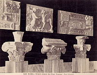 0072001 © Granger - Historical Picture ArchiveROME: FORO TRAJANO.   Ornamental artifacts from Foro Trajano in Rome. Photograph, 1890s.