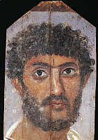 0094691 © Granger - Historical Picture ArchiveROME: FUNERAL PORTRAIT.   Funeral portrait of a man from Fayum, Egypt, 2nd or 3rd century.