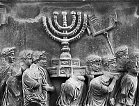 0124123 © Granger - Historical Picture ArchiveROME: ARCH OF TITUS.   Detail of the relief on the Arch of Titus, depicting Roman soldiers bearing away the plundered treasures of the Temple of Jerusalem during the Siege of Jerusalem, 70 A.D.
