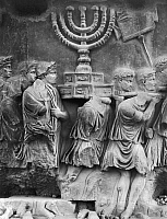0124124 © Granger - Historical Picture ArchiveROME: ARCH OF TITUS.   Detail of the relief on the Arch of Titus, depicting Roman soldiers bearing away the plundered treasures of the Temple of Jerusalem during the Siege of Jerusalem, 70 A.D.