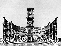 0124672 © Granger - Historical Picture ArchiveROME: COLOSSEUM, 1685.   Reconstruction of the Colosseum in Rome. Line engraving, 1685.