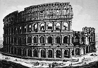 0124859 © Granger - Historical Picture ArchiveROME: COLOSSEUM, 1829.   Ruins of the Colosseum in Rome. Line engraving, Italian, 1829.