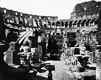 0124866 © Granger - Historical Picture ArchiveROME: COLOSSEUM.   The arena of the Colosseum in Rome, during the excavations in 1874-1878. Photograph by John Henry Parker.