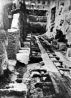 0124885 © Granger - Historical Picture ArchiveROME: COLOSSEUM ARENA.   View of the excavated arena in the Colosseum in Rome, early 20th century.