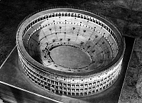 0125001 © Granger - Historical Picture ArchiveROME: COLOSSEUM MODEL.   Model of a reconstruction of the Colosseum in Rome.