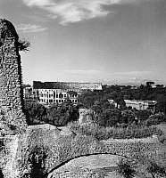 0125003 © Granger - Historical Picture ArchiveROME: COLOSSEUM.   View of the Colosseum from the Domus Severiana on Palatine Hill in Rome, Italy. Photograph, early or mid 20th century.