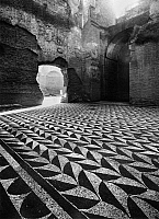 0125703 © Granger - Historical Picture ArchiveROME: BATHS OF CARACALLA.   Mosaic floor at the ruins of the Baths of Caracalla (Terme di Caracalla) in Rome, Italy, dating from the early 3rd century A.D.