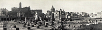 0129249 © Granger - Historical Picture ArchiveROME: FORUM, c1909.   Panoramic view of the ruins of the Forum, Rome, Italy. Photograph, c1909.