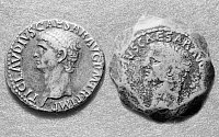 0260757 © Granger - Historical Picture ArchiveROMAN COINS: CLAUDIUS.   Copper coins with portraits of Claudius, Roman Emperor from 41-54 A.D.