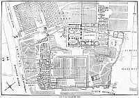 0268388 © Granger - Historical Picture ArchiveROME: PALATINE HILL.   Plan of the Palatine Hill in Rome. Engraving, English, 1872.