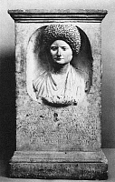 0268858 © Granger - Historical Picture ArchiveROMAN FUNERARY ALTAR.   Roman marble funerary altar for Cominia Tyche, wife of Lucius Annius Festus, 90-100 A.D.
