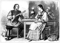 0067109 © Granger - Historical Picture ArchiveCOURTSHIP IN RUSSIA, 1880.   Wood engraving, English, 1880.