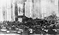 0113461 © Granger - Historical Picture ArchiveRUSSIA: DUMA, 1917.   The Russian Duma in session after the start of the first Russian Revolution. Illustration, 17 March 1917.