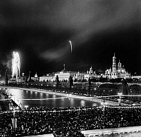 0128889 © Granger - Historical Picture ArchiveMOSCOW: REVOLUTION DAY.   Revolution Day celebration in the Red Square, Moscow, 7 November 1968.