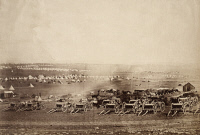 0622258 © Granger - Historical Picture ArchiveCRIMEAN WAR: KAMARA, 1855.   A field of artillery wagons, with Kamara Heights in the distance. Photograph by Roger Fenton, 1855.