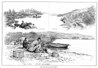 0370724 © Granger - Historical Picture ArchiveLOCH AWE, 1887.   Trout fishing at Loch Awe in Argyll and Brute, Scotland. Engraving, English, 1887.