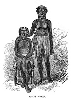 0268086 © Granger - Historical Picture ArchiveFIJI: NATIVE WOMEN, 1873.   Portrait of two native woman in Fiji. Engraving, English, 1873.