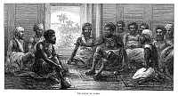 0268089 © Granger - Historical Picture ArchiveFIJI: GOVERNMENT, 1873.   Council of native chiefs in Fiji. Engraving, English, 1873.