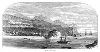 0268090 © Granger - Historical Picture ArchiveFIJI: LEVUKA, 1873.   City on the Fijian island of Ovalau. English engraving made at the time Levuka was the capital of Fiji, 1873.