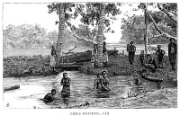 0353514 © Granger - Historical Picture ArchiveFIJI: BATHERS, 1885.   Women bathing in Fiji. Wood engraving, English, 1885.