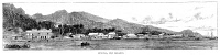 0353516 © Granger - Historical Picture ArchiveFIJI: LEVUKA, 1885.   View of the town of Levuka, Fiji. Wood engraving, English, 1885.