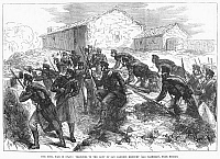 0089412 © Granger - Historical Picture ArchiveSPAIN: CIVIL WAR, 1874.   'Trenches to the Left of San Candido Redoubt (Las Carreras), near Bilbao.' Wood engraving from an English newspaper of 1874.