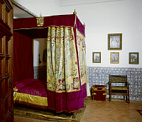 0104914 © Granger - Historical Picture ArchiveESCORIAL: ROYAL BEDROOM.   Bedroom of Philip II (1527-1598) at the Escorial Palace, Spain.