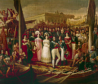 0105043 © Granger - Historical Picture ArchiveFERDINAND VII OF SPAIN  (1784-1833). King of Spain, March-May 1808; 1814-1833. The return of Ferdinand to Spain in 1814. Oil on canvas, 19th century, by Jose Aparicio.