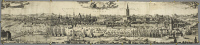 0622118 © Granger - Historical Picture ArchiveSPAIN: SEVILLE, 1617.   Panoramic view of Seville, Spain from the right bank of the Guadalquivir River. Engraving by Johannes Janssonius, 1617.