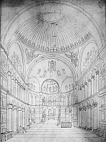 0127523 © Granger - Historical Picture ArchiveTURKEY: HAGIA SOPHIA, 1834.   Interior view of Hagia Sophia in Istanbul. Drawing, 1834, by the French historian and archaeologist Félix Marie Charles Texier.