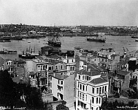0183671 © Granger - Historical Picture ArchiveISTANBUL: NAVAL ARSENAL.   View of the Imperial Naval Arsenal on the Golden Horn in Istanbul, Turkey. Photograph by Abdullah Fréres, c1890.