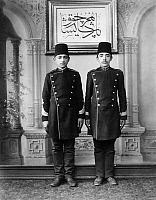 0183686 © Granger - Historical Picture ArchiveISTANBUL: MILITARY SCHOOL.   Students at a military school in Istanbul, Turkey. Photograph by Abdullah Fréres, c1890.