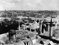 0183687 © Granger - Historical Picture ArchiveISTANBUL: GOLDEN HORN.   View of the Golden Horn from the Topkapi Palace in Istanbul, Turkey. Photograph by Abdullah Fréres, c1890.