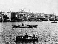0183688 © Granger - Historical Picture ArchiveISTANBUL: GOLDEN HORN.   View of the Golden Horn at Istanbul, Turkey, with the Hagia Sophia in the background. Photograph by Abdullah Fréres, c1890.