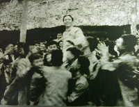 0526081 © Granger - Historical Picture ArchiveVO NGUYEN GIAP (1911-2013).  Vietnamese general and Communist politician. Celebrating the victory over French troops at the Battle of Dien Bien Phu. Photograph, 1954. Full credit: Marc Charuel - Rue des Archives / Granger, NYC.