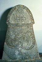 0022712 © Granger - Historical Picture ArchiveRUNIC STONE, c1000-1100 A.D.   From Sjonhems Church, Sweden.