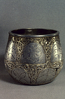 0040093 © Granger - Historical Picture ArchiveDENMARK: VIKING CUP.   Silver and gilt, found at Fejo, Denmark.