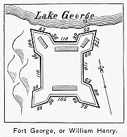 0064298 © Granger - Historical Picture ArchiveFORT WILLIAM HENRY, 1757.   Plan of Fort William Henry, Lake George, New York, 1757.