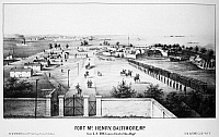 0064497 © Granger - Historical Picture ArchiveFORT McHENRY, 1862.   Fort McHenry at Locust Point in Baltimore, Maryland. The fort served as a prison during the American Civil War. Lithograph, 1862.