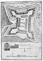 0077578 © Granger - Historical Picture ArchiveFORT WILLIAM HENRY, 1763.   Plan of Fort William Henry, Lake George, New York, 1763.