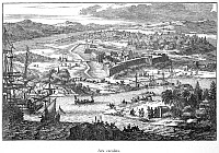 0077605 © Granger - Historical Picture ArchiveFORT CAROLINE, 1673.   'Arx Carolina.' Fort Caroline on the St. John's River in Florida. Line engraving after Arnoldus Montanus, c1673.