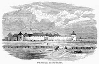 0089424 © Granger - Historical Picture ArchiveCANADA: FORT GARRY, 1870.   Hudson Bay Company's Fort Garry, or Upper Fort Garry, at Red River Settlement, where Winnipeg is now situated. Wood engraving, English, 1870.