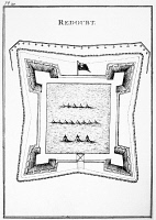 0129798 © Granger - Historical Picture ArchiveBRITISH REDOUBT, 1777.   Plan of a typical British redoubt at the time of the American Revolutionary War.
