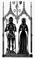 0016842 © Granger - Historical Picture ArchiveKNIGHTS: ENGLAND, 1416.   Sir Simon Felbrygge and his wife, Maragaret, 1416. Brass rubbing from Felbrigg Church, Norfolk.