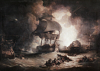 0176345 © Granger - Historical Picture ArchiveBATTLE OF THE NILE, 1798.   'The Destruction of