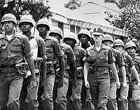 0166780 © Granger - Historical Picture ArchiveU.S. ARMY: MARCHING DRILL.   Drill instructor Ann Swartz leads recruits at Fort Jackson in South Carolina, August 1978.