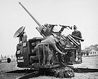 0099978 © Granger - Historical Picture ArchiveANTI-AIRCRAFT GUN, 1952.   Demonstration of the U.S. Army's anti-aircraft weapon known as the 'Skysweeper,' at Fort Myer, Virginia, 1952.