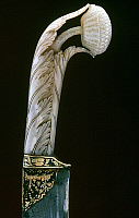 0106132 © Granger - Historical Picture ArchiveINDIAN DAGGER HILT.   Carved ivory dagger hilt. From the royal armory at Jaipur, India.