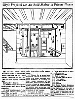 0116455 © Granger - Historical Picture ArchiveBOMB SHELTER, c1955.   Diagram of a basement bomb shelter recommended for one and two-family dwellings by the New York City Civil Defense Organization, c1955.